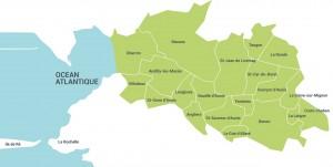 carte aunis nord dans autour